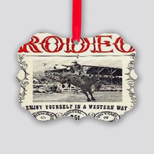 Vintage Rodeo Picture Ornament