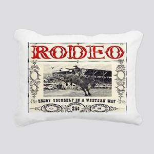Vintage Rodeo Rectangular Canvas Pillow