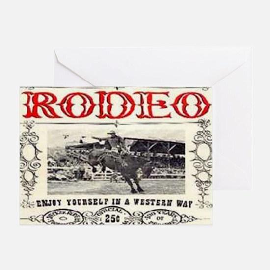Vintage Rodeo Greeting Card