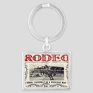 Vintage Rodeo Landscape Keychain