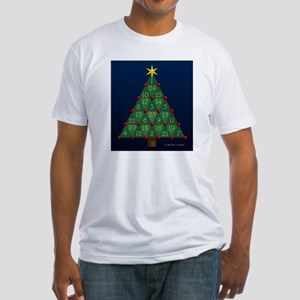 Advent Sum Christmas Tree Fitted T-Shirt