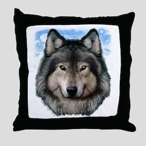 Wolf Head 2 Throw Pillow