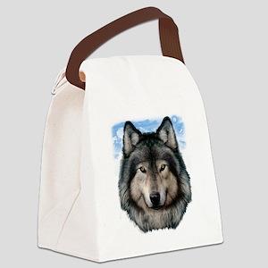 Wolf Head 2 Canvas Lunch Bag