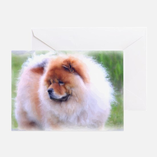 Gazing Chow Chow Watercolor Greeting Card