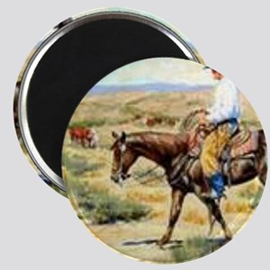 Cowboy Painting Magnet