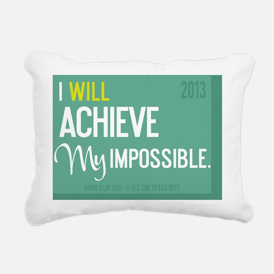 calendar 2013 TimeToKick Rectangular Canvas Pillow