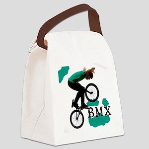BMX ink blot Canvas Lunch Bag