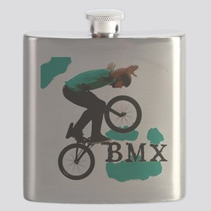 BMX ink blot Flask