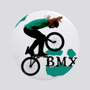 BMX ink blot Round Ornament