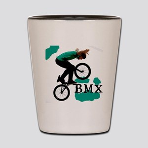 BMX ink blot Shot Glass