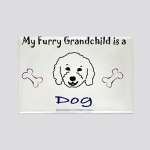 furry grandchild - more breeds Rectangle Magnet