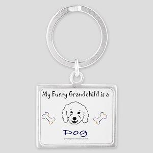 furry grandchild - more breeds Landscape Keychain