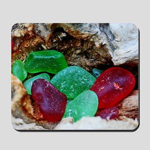 beach glass Mousepad