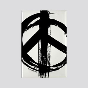 Peace sign - black Rectangle Magnet