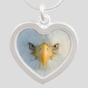 Eagle Silver Heart Necklace