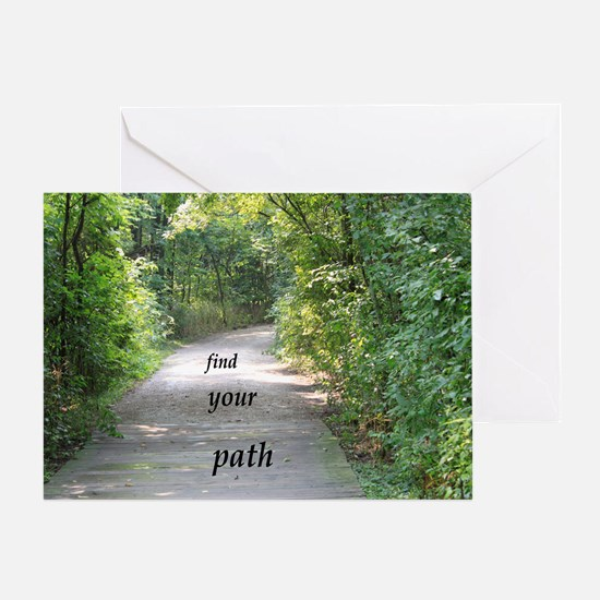 find your path Greeting Card
