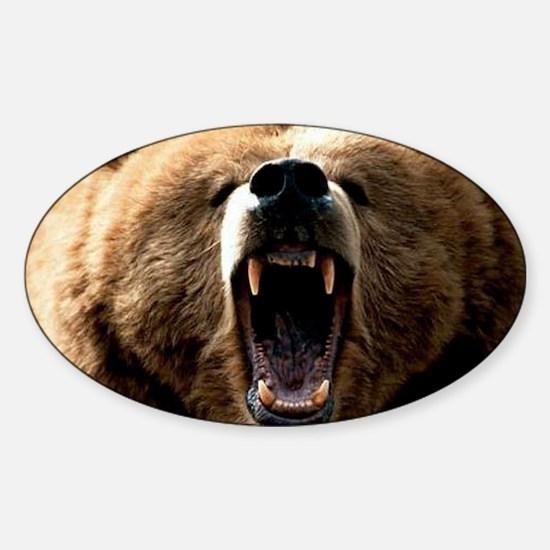 Grizzzly Sticker (Oval)