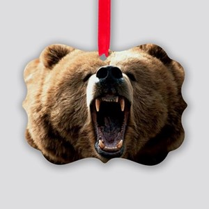 Grizzzly Picture Ornament