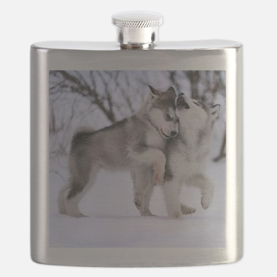 Wolves Playing Flask