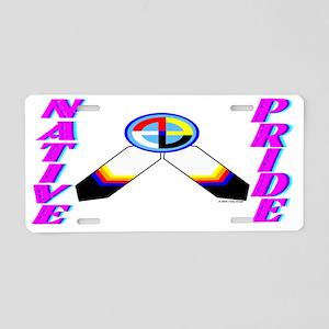 NATIVE PRIDE Aluminum License Plate