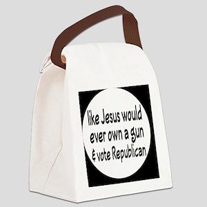 republicanjesusbutton Canvas Lunch Bag