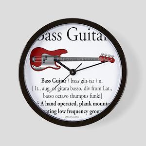Bass Guitar LFG Wall Clock