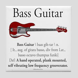 Bass Guitar LFG Tile Coaster