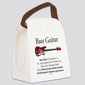 Bass Guitar LFG Canvas Lunch Bag