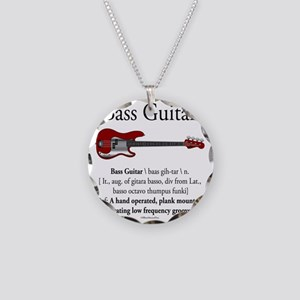 Bass Guitar LFG Necklace Circle Charm