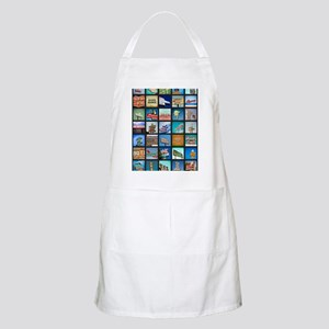 Mid-Century Vintage Signs Poster Apron