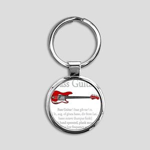 Bass Guitar LFG Round Keychain