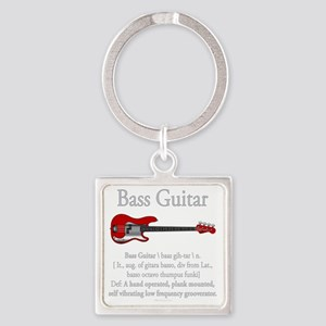 Bass Guitar LFG Square Keychain