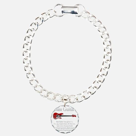 Bass Guitar LFG Charm Bracelet, One Charm