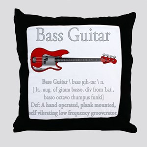 Bass Guitar LFG Throw Pillow