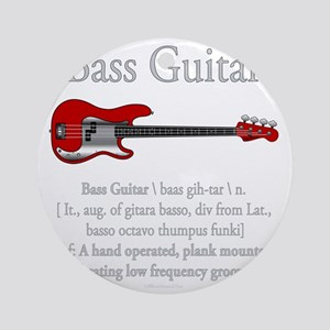 Bass Guitar LFG Round Ornament