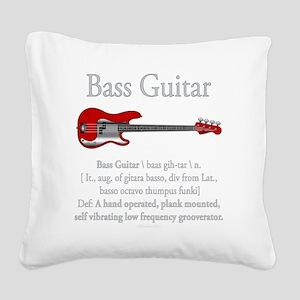 Bass Guitar LFG Square Canvas Pillow