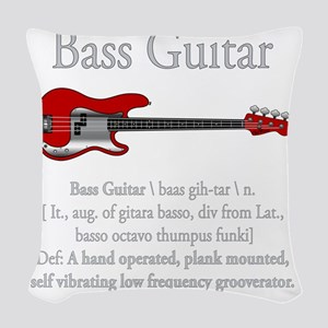 Bass Guitar LFG Woven Throw Pillow