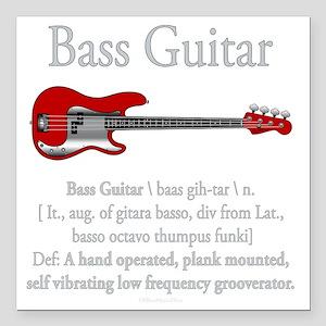 "Bass Guitar LFG Square Car Magnet 3"" x 3"""