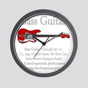 Bass Guitar LFG Wall Clock