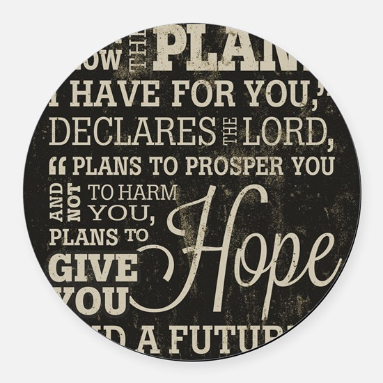 Hope and a Future Round Car Magnet