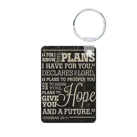 Hope and a Future Aluminum Photo Keychain