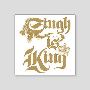 "Singh Is King Square Sticker 3"" x 3"""