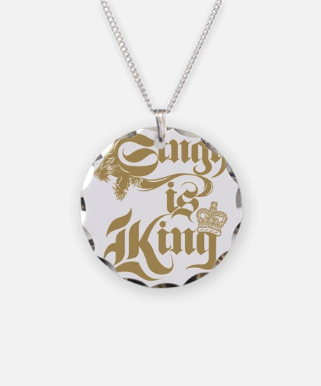 Singh Is King Necklace Circle Charm