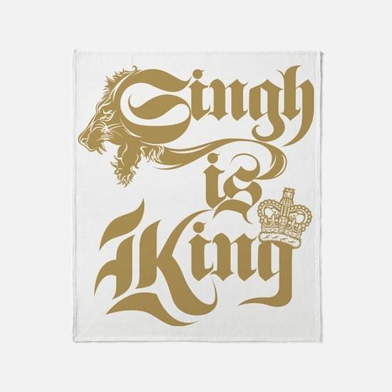 Singh Is King Throw Blanket