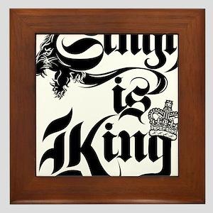 Singh Is King Framed Tile