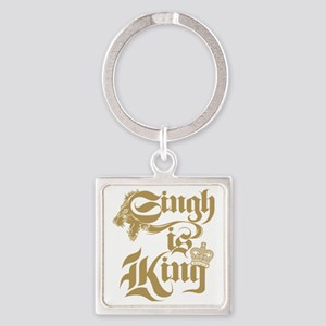 Singh Is King Square Keychain