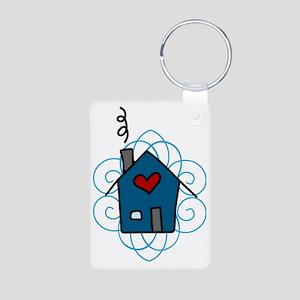 Home Aluminum Photo Keychain