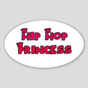 Hip Hop Princess Oval Sticker