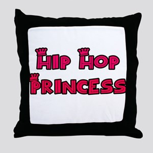 Hip Hop Princess Throw Pillow