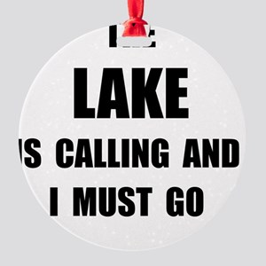 Lake Calling Round Ornament